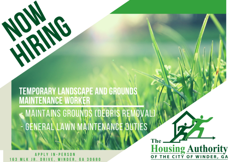 Now Hiring: Temp. Landscape & Grounds Maintenance Worker