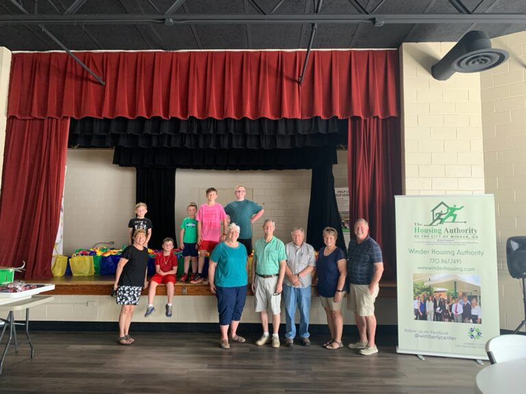 Winder FBC donates 250 meals+ recipe books and more to WHA